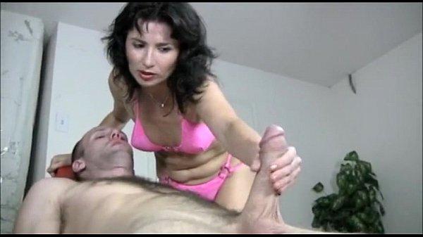 Naughty Milf Gives A Handjob Massage