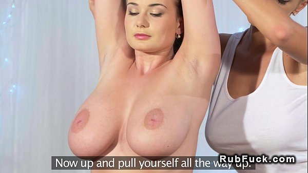 Huge boobs lesbians in massage room Thumb