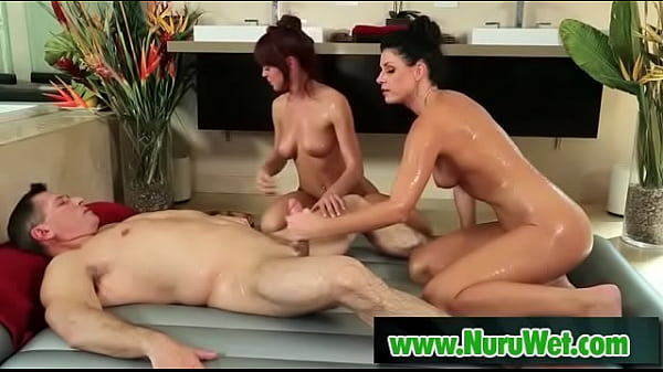 Oiled massage with big tits - India Summer, John Strong Thumb