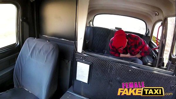 Female Fake Taxi Skater punk fucks cute petite babe to orgasm on backseat
