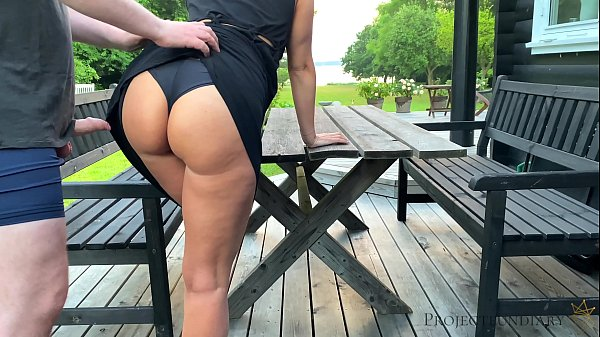sex with stepdaughter before she leaves to school - morning outdoor quickie, projectsexdiary