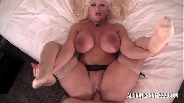Busty blonde pornstar Alura Jenson gets fucked ...