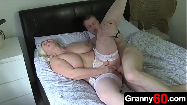 Grandma has a hunger for cock that this young grandson over is trying desperately to satisfy