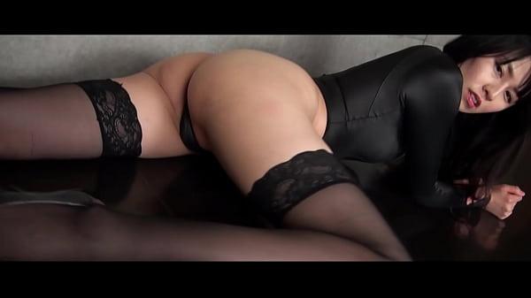 Asahi Sugawara High-leg leotard black and stockings legs,ass-fetish image video solo (Original edited version) Thumb