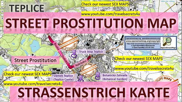 Teplice, Czech Republic, Tschechien, Street Prostitution MAP. Prostitutes, Callgirls