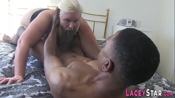 Gloryhole sucking granny anally rides Thumb