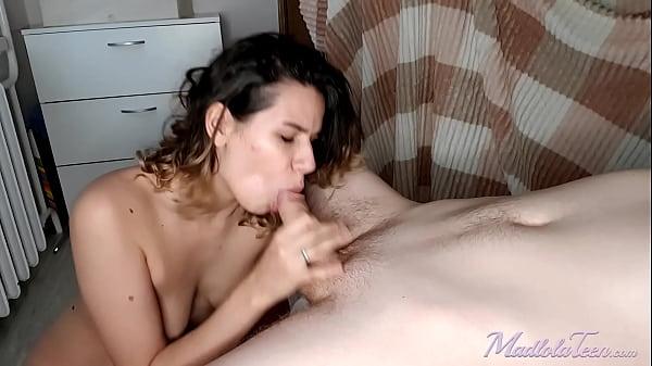 Girlfriend Rough Doggystyle Sucking and Orgasm