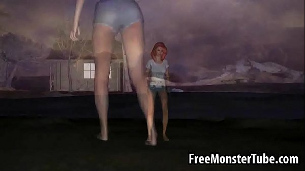 Sexy 3D cartoon redhead babe getting fucked by a zombie