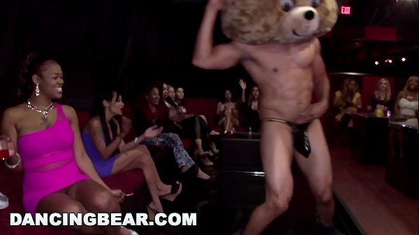 DANCING BEAR - Insane CFNM Party With Gang Of H...