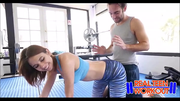 Brunette Teen Ce Ce Capella Fucked By Trainer During Workout