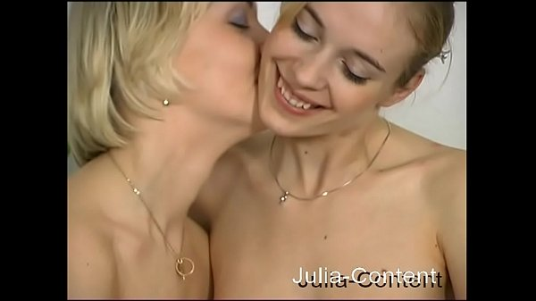 Two hot blond girl do lesbian sex