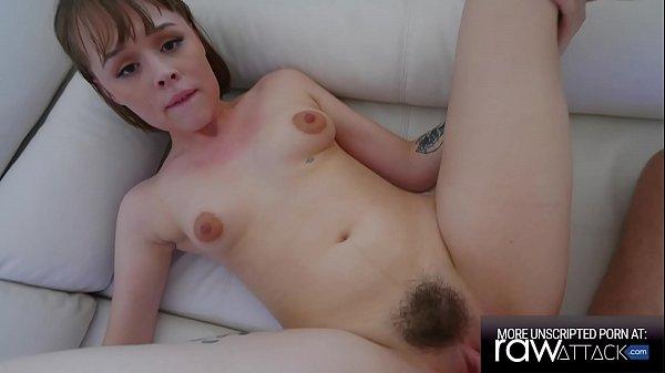 Slim Beauty Elle Loveland Tight Hairy Pussy Fucking
