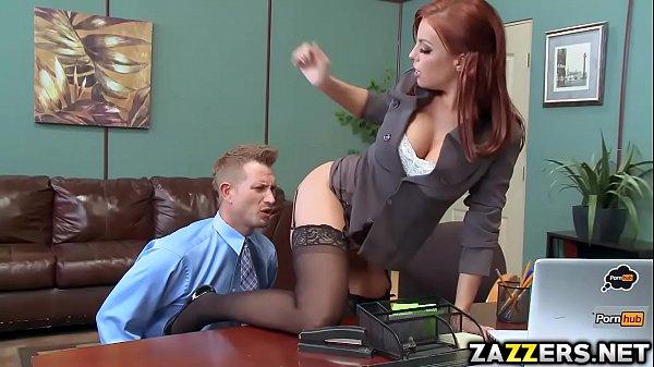 Britney Amber sucking Bill Baileys big cock deep throat