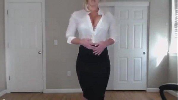MILF Blonde Webcam Strip Her Uncensored Scene H...