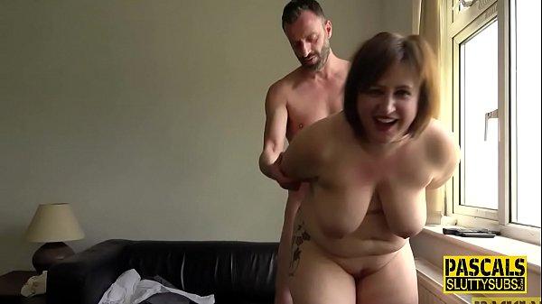 Big ass paddled larger lady sub throats