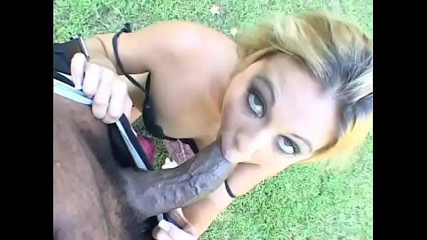 Juicy blonde nympho with blue eyes Jayna Woods was so impressed with royal size of black man living next door so she started to suck it without more ado
