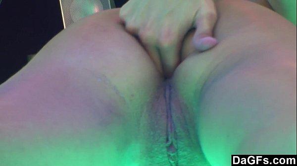 DAGFS - Blonde Babe Frigs Her Pussy To A Creamy Cum