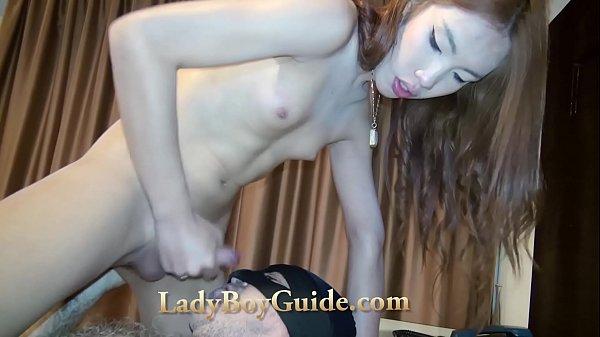 Erect Ladyboy Waves Penis While I Am Snug Up Bottom