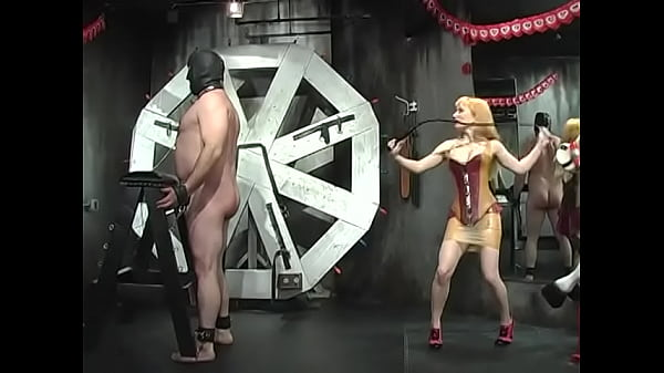 Big tit curvy amazons whip a big black masked dude