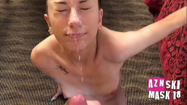 18 y/o Nico gets a MESSY facial in a dirty motel from Asian boy