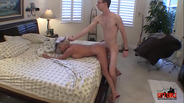 Young guy fills his Granny with hard cock cums twice  Sally D'angelo  #Taboo #Milf #Kinky
