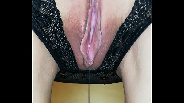 Crotchless Pantie Dripping wet Pussy