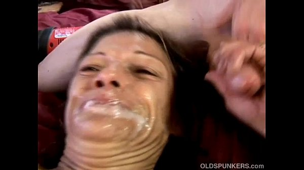 Kinky old spunker loves huge toys & sticky faci...
