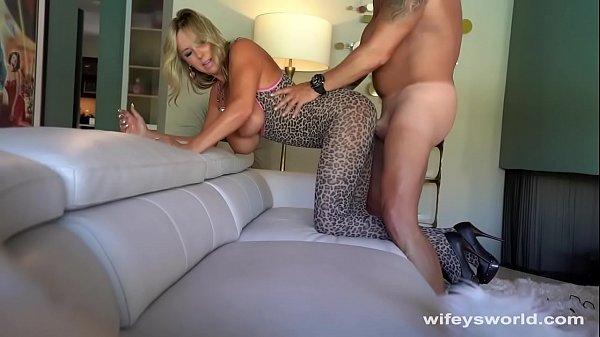 Drilled Wifey Shoots Cum On Herself