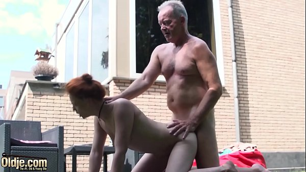 Teen nympho fucked hardcore in old and young po...