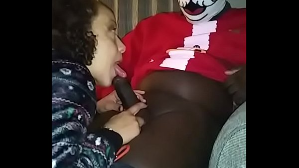 Brook Starr - Naughty Ho Ho Ho, Ghetto Santa, sucking his dick after I caught him trying to steal my Christmas gifts