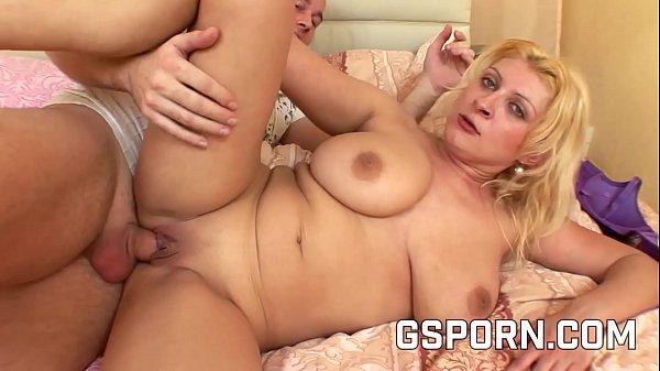 Chubby milf big natural tits fucked by hard cock Thumb