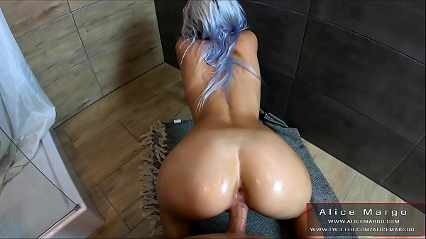Oiled Ass in DoggyStyle! Fit Babe and Big Cumshot! AliceMargo.com