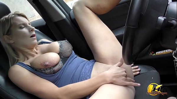 Masturbate at Public Parking in Car Katerina Hartlova