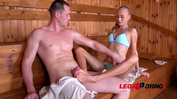 Sizzling Hardcore Sex in the Sauna with Petite ...