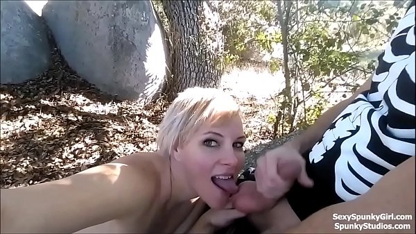 Sucking a Big Cock & Getting a Facial in a Public Park