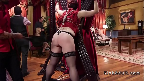 Slaves suffering whipping at bdsm orgy Thumb