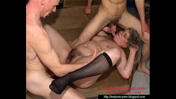 granny anal 3some