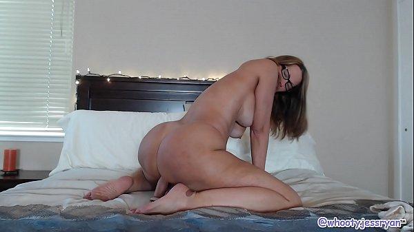 Beautiful Mature In Bed Sucks and Rides Big Long Dildo Thumb