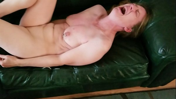 White woman on couch whipped by her Black Master Thumb