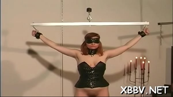 Chubby female tied up and forced to endure sadomasochism xxx Thumb