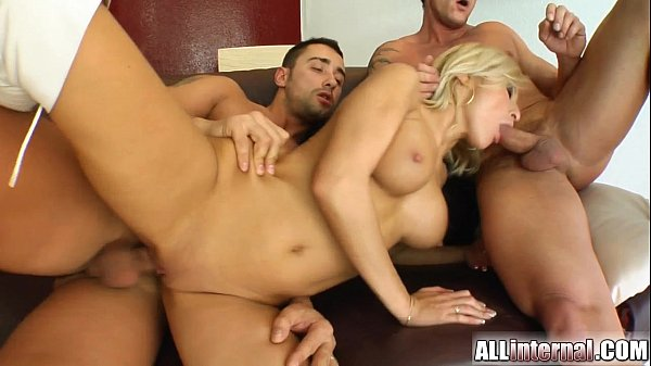All Internal Two guys trash Ginna's pussy and cream her good
