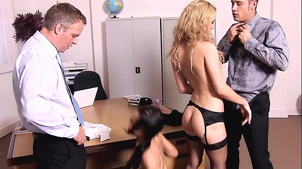 DP Anal 4-Way at the Office. Ass to Mouth Deept...