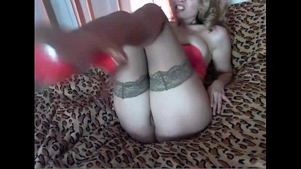 Sexy Milf playing with dildo - AliciaMcCartney.com
