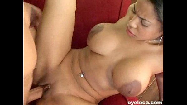 dark skinned latina with huge melons rammed hard
