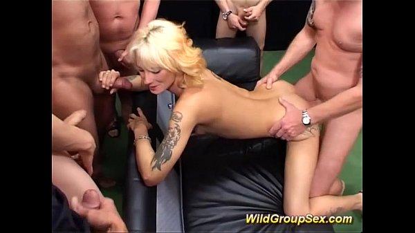 german Milf in bukkake groupsex orgy