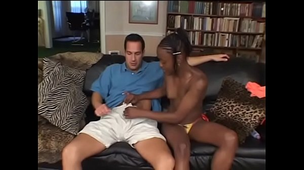Horny vanilla pilot of the chocolate runway makes ebony gal with gaunt figure Chastity scream when he stiffs his massive tool in her tight anaus