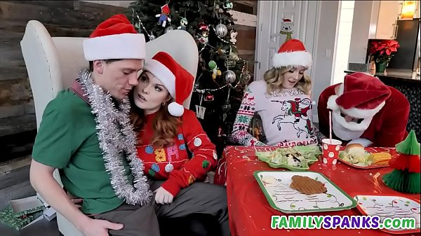 Perv Family Doing Orgy in Christmas - Charlotte Sins - Summer Hart