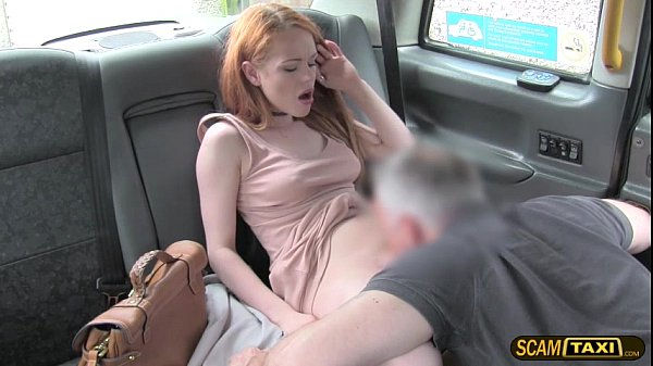 Sweet Ella takes a big cock in the taxi and rec...