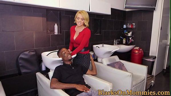 Milf hairdresser pounded with bbc in salon