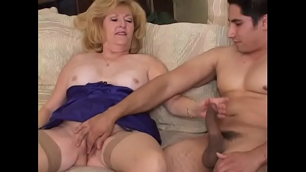 y. stud gets to fuck an old blonde slut Kitty F...